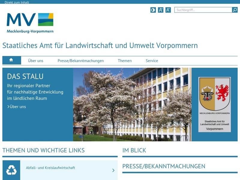 Screenshot von http://www.stalu-mv.de/vp/